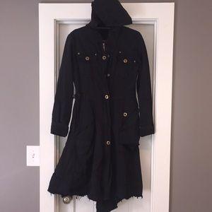 Johnny Was/Pete & Greta Long Black Cargo Jacket